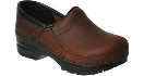 Dansko Gitte Clog for Kids in Antique Brown Oiled 23