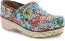 Dansko Jute Pro Clog for Women in Flamingo Canvas