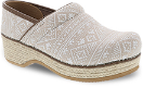 Dansko Jute Pro Clog for Women in Ikat Canvas