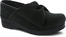 Dansko Pro Bow Clog For Women in Black Milled Nubuck