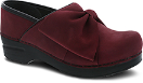 Dansko Pro Bow Clog For Women in Wine Milled Nubuck
