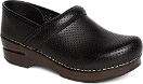 Dansko Perfed Pro Clog for Women in Black Full Grain