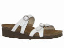 Naot Kate Sandal for Women in White Patent 35