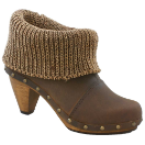 Sanita Wood Knit Cone Boot for Women in Brown