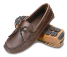 Minnetonka Double Bottom Cowhide Driving Moccasin for Men