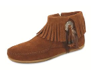 Minnetonka Concho/Feather Side Zip Boot for Women