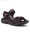 Ecco Yucatan Sandal for Men in Black 49
