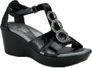 Naot Peace Sandal for Women in Black Gloss 36