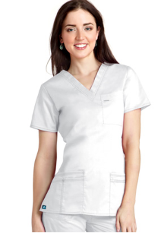 Adar V-Neck Scrub Top for Women