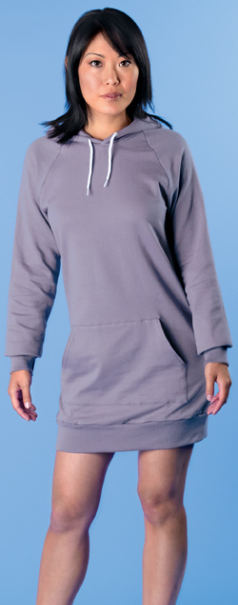 American Apparel California Fleece Pullover Raglan Hoody Dress Style 5498