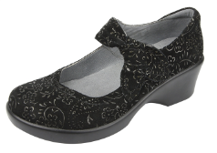 Alegria Ella Shoe in Black Sprigs for Women