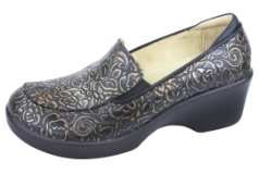 Alegria Emma Shoe for Women in Bronze Bouquet