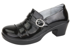 Alegria Halli Shoe for Women in Black Waxy