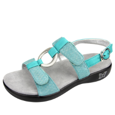 Alegria Julie Sandal for Women in Aqua