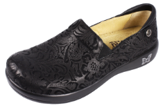 Alegria Keli Black Embossed Paisley Shoe for Women