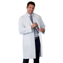 "WMA Embroidered 38"" Men's Labcoat by META"