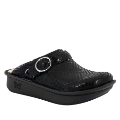 Alegria Seville Black Dazzler Clog for Women