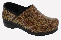 Sanita Professional Billie Gold Print Clog For Women