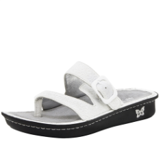 Alegria Valentina Sandal for Women in White Poppy