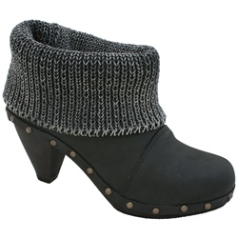 Sanita Wood Knit Cone Boot for Women in Black