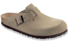 Birkenstock Boston Clog for Women in Taupe, Soft 38R