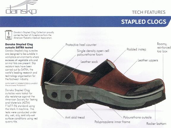 Dansko Tech Features Stapled Bottom Collection