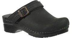 Sanita Ingrid Clog in Black Oiled Leather for Women on Sale
