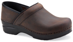 Dansko Professional Clog for Women in Antique Brown Oiled Leather