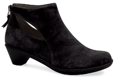 Dansko Bonita Boot for Women in Black Suede & Grey Nappa