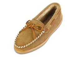 Minnetonka Sheepskin Hardsole Moccasin for Women