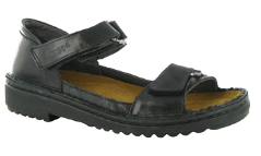 Naot Nicky Sandal for Women in Black Madras 40