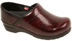 Sanita Professional Clog in Croco Patent Leather for Women