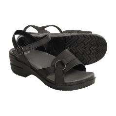 Dansko Melina Sandal for Women in Black 38