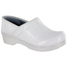Sanita Professional Clog in White Patent Leather (Celina) for Women