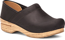 Dansko Professional Clog for Women in Black/Natural Oiled Leather 36,40,41