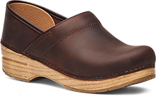 Dansko Professional Clog Antique Brown Oiled Brown Sole
