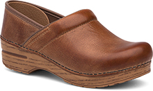 Dansko Professional Clog for Women in Honey Distressed (Wide)