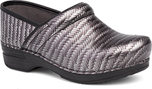 Dansko Pro XP Clog For Women in Grey Herringbone Patent