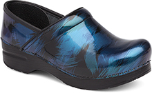 Dansko Professional Clog For Women In Blue Shadow Patent