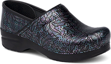 Dansko Professional Clog For Women In Henna Floral Patent