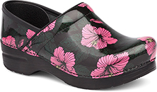 Dansko Professional Clog For Women in Pink Hibiscus Patent