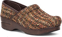 Dansko Fabric Professional Brown Textured Clog for Women 38
