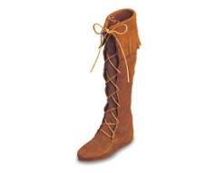 Minnetonka Front Lace Hardsole Knee Hi Boot for Women