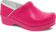Dansko Professional Clog For Women in Pink Neon Leather