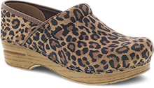 Dansko Professional Clog For Women in Leopard Suede