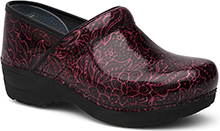 Dansko Pro XP 2.0 Clog for Women in Wine Tooled Patent 41