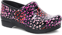 Dansko Professional Clog For Women in Tiny Hearts Patent