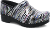 Dansko Professional Clog For Women in Striped Patent