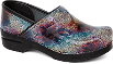 Dansko Professional Clog For Women in Multi Mosaic Patent