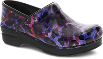 Dansko Professional Clog For Women in Painted Leopard Patent